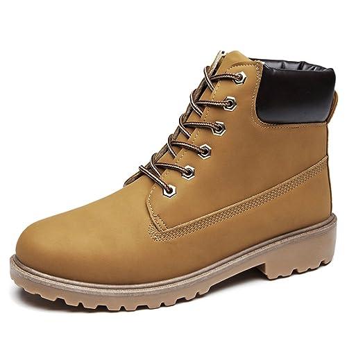 BOZEVON Mujer Botas de Trabajo Retro Otoño Invierno Botines Calentar Botas De Nieve Caliente Zapatos: Amazon.es: Zapatos y complementos