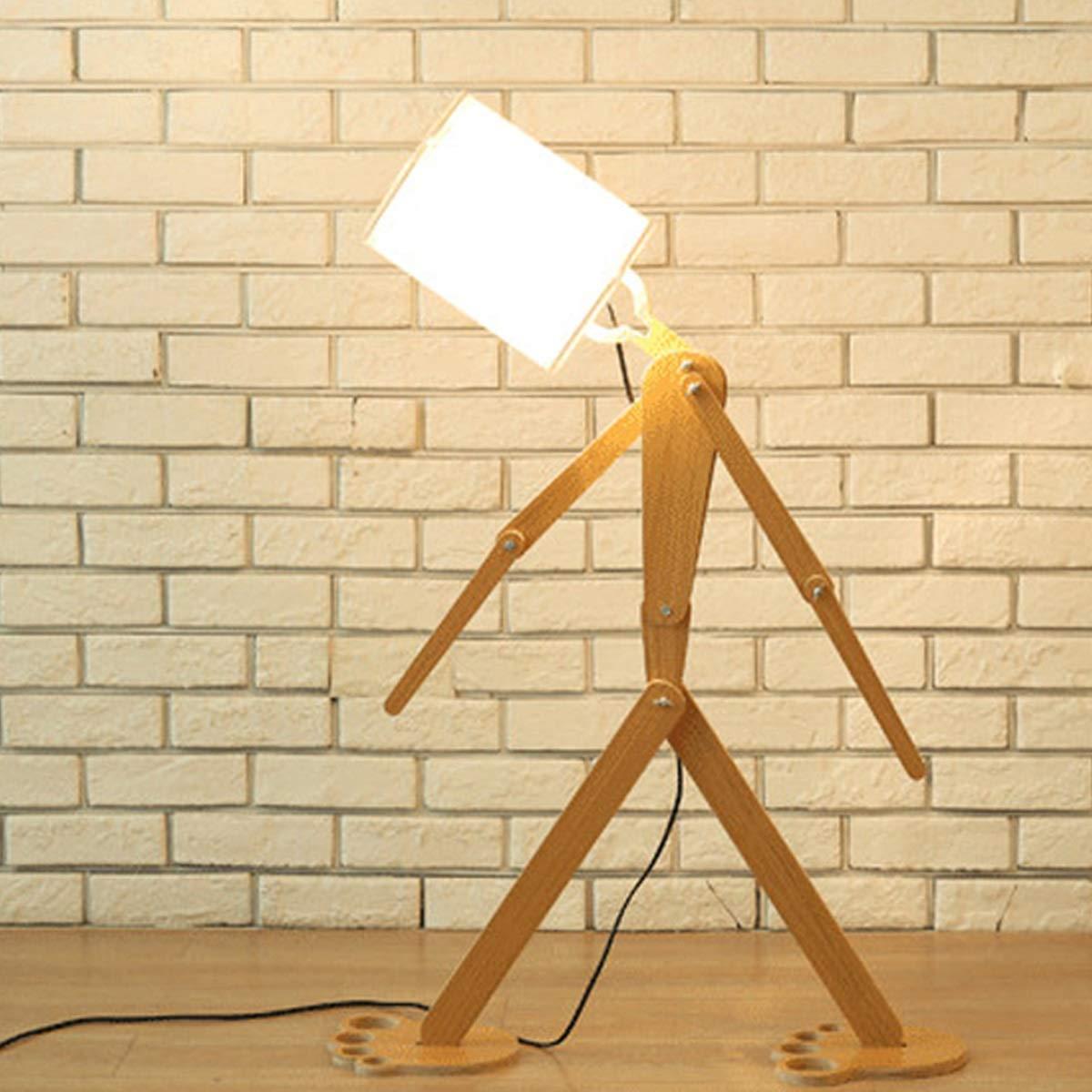 LED電球が付いている居間の寝室のための床ランプ調節可能な形LEDの床ランプ。 (色 : 白) B07P9WR7NR 白