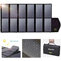 GIARIDE 12V 18V 80W Cargador Solar Sunpower Panel (18V DC, 5V USB Salida) para Ordenador Portátil, Cuaderno, Tableta, iPad, iPhone, Samsung, Coche/Barco / Batería De RV y Más