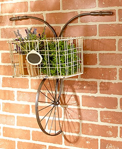 Bicycle Design Metal Wire Wall Basket Indoor/Outdoor Unique
