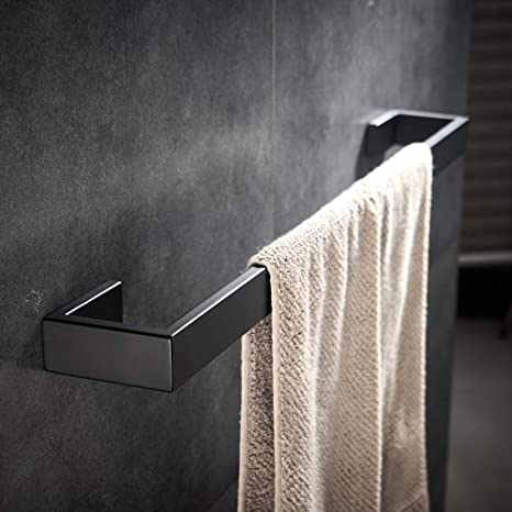 Amazon Com Yj Yanjun Matte Black Towel Bar Modern Bathroom Towel Holder Accessories 24 Inch Home Kitchen