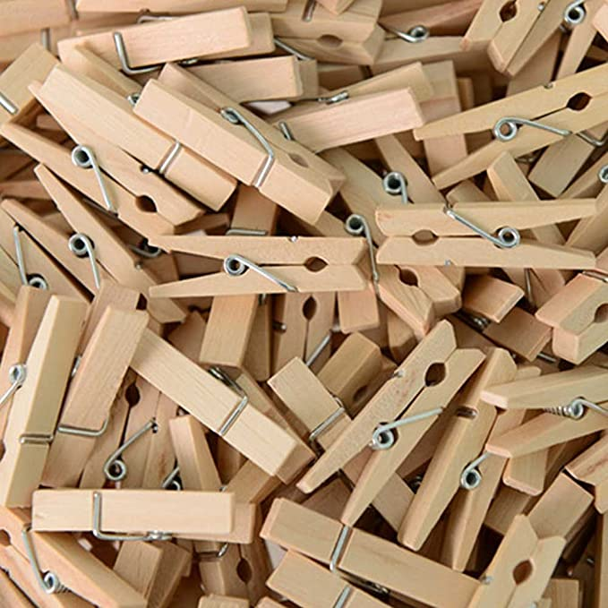 DECORA 2.5cm Multicolor Wood Mini Clothespin 72 Pieces in One Package