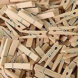 Mini Clothespins, Mini Natural Wooden Clothespins