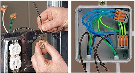 222-415 x10 de cada conector el/éctrico conector conductor abrazadera de cable bloque de terminales 222-413 x10 Gas N Pow3r 222-412 x10