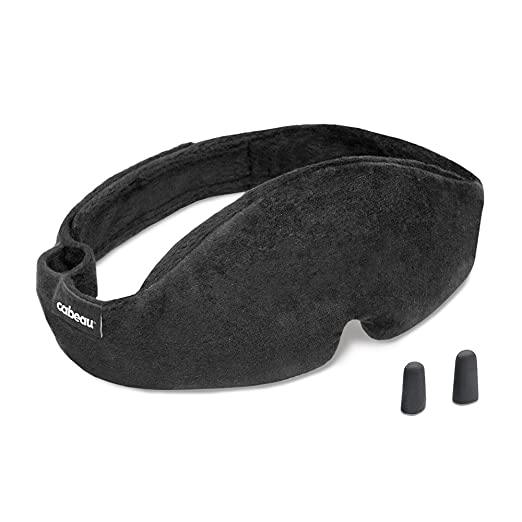 The Cabeau Midnight Magic Sleep Mask travel product recommended by Kyle on Lifney.