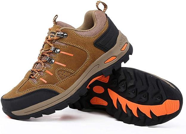 H.L Montañismo al Aire Libre Zapatillas de Running de Cuero ...
