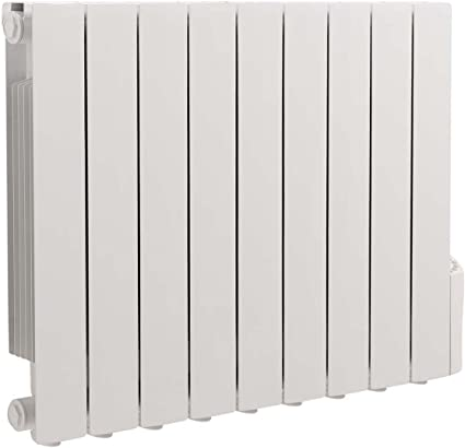 Warmehaus Oil Filled Electric Radiator Thermostatic Wall Mounted Heater - 577x778mm - 1500W - Slimline Fluid Inertia Radiator - 24/7 Timer, LCD Display, 5 Heating Modes