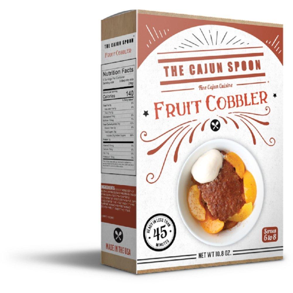 The Cajun Spoon Fruit Cobbler Dessert Mix, 10.8 Ounce Box