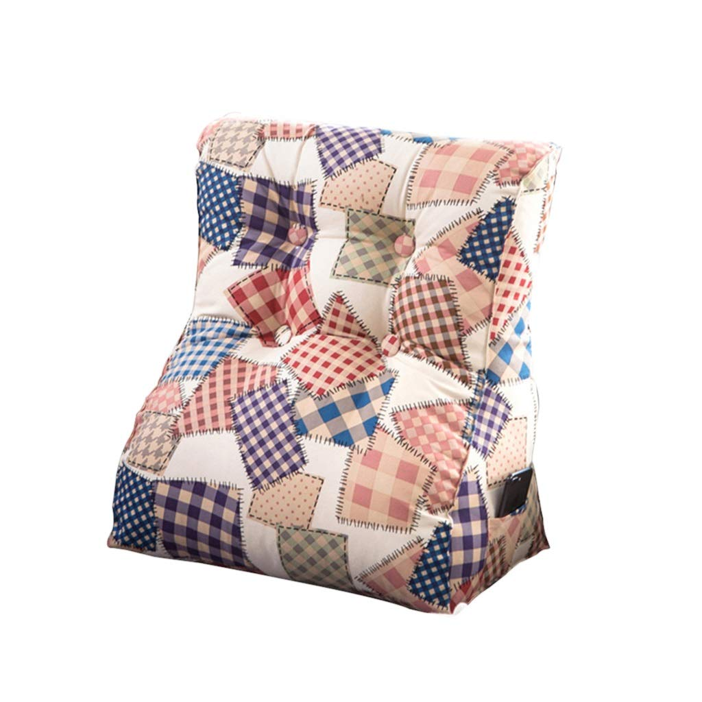 DUHUI Dreieck Kissen Bett Kopfstütze Kissen Hals Größe Bett Bett Bett Rückenlehne Schlafzimmer Büro Größe Kissen Sofa Weiche Tatami Größe Kissen (Farbe   C, größe   55x60x30cm) B07K6J998L Kissen Qualitätsprodukte 3328c1
