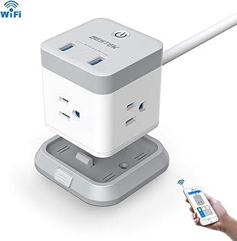 Bestek 3-Outlet 2-USB Port Smart WiFi Power Strip