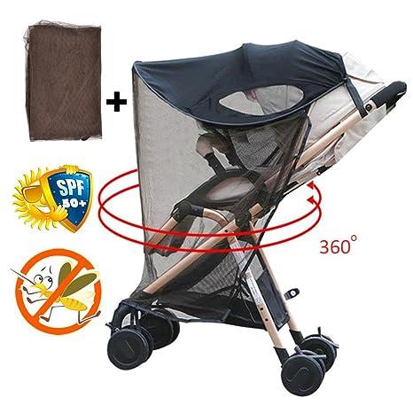Househome Cochecitos Sombrilla Net, Bebé Universal Anti-UV Insectos a Prueba de Viento Repelente