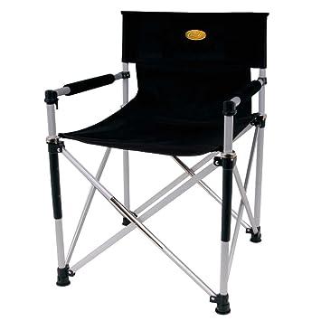 Faltstuhl camping  Camp 4 Faltstuhl Director's Chair Luxus, schwarz, 85 x 15 x 10 ...