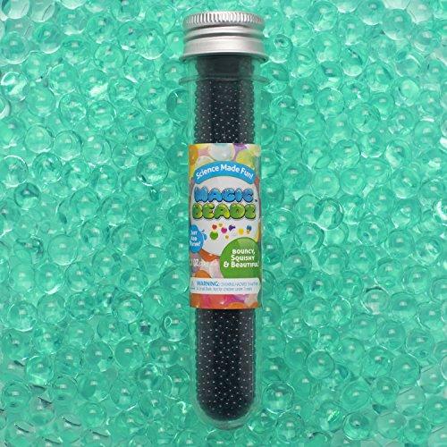 Magic Beadz - Turquoise Green Gel Water Beads - Transparent Jelly Pearls - Vase Filler - Wedding Centerpiece - Candles - Flower Arrangements - Resealable Tube