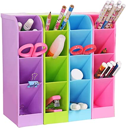 Organizador de escritorio para lápices, caja de almacenamiento ...