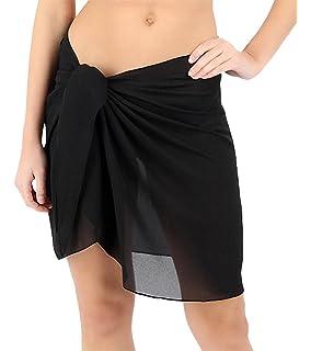 a7131081426cb ChinFun Women s Soft Wrap Beach Swimwear Short Knee Length Long Cover up  Pareo Swimsuit