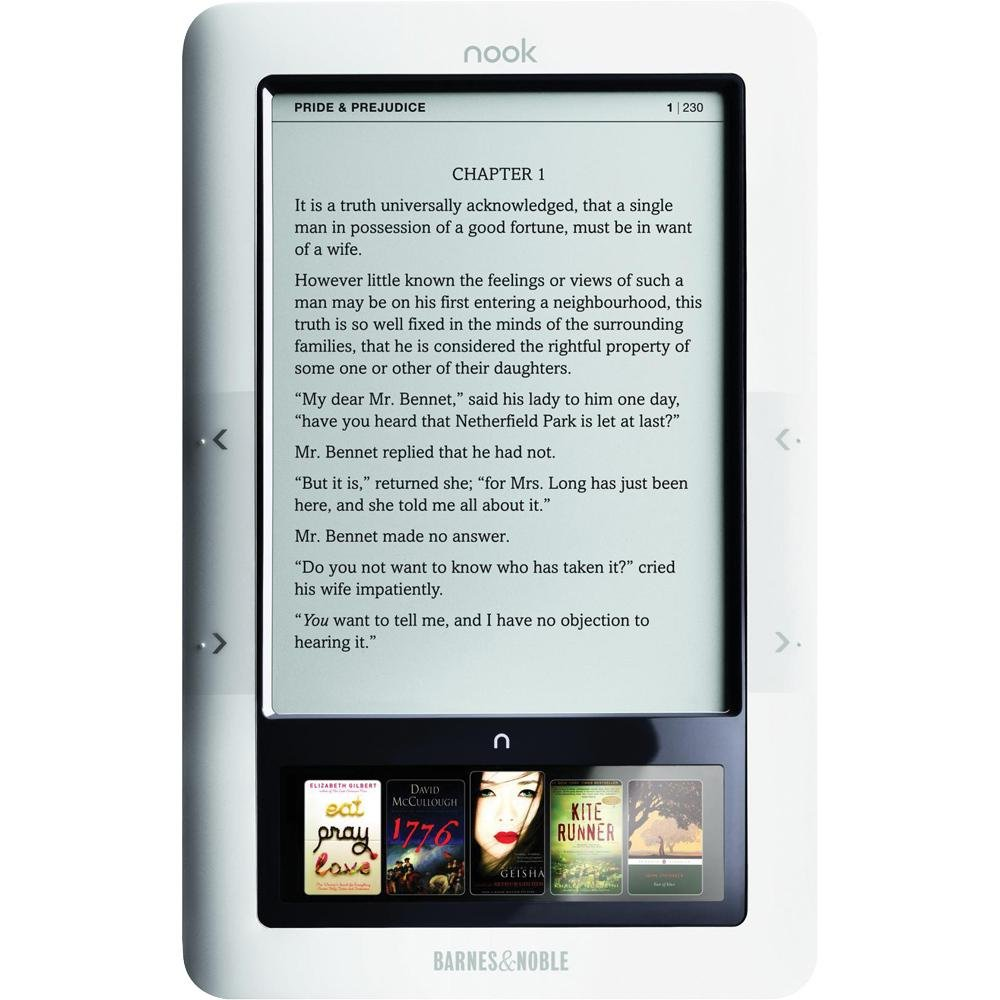 Amazon.com: Barnes and Noble NOOK eBook Reader (WiFi only) [ Black ...