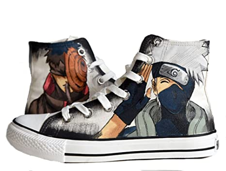 Naruto Hatake Kakashi Uchiha Obito Canvas Shoes Hand-painted Shoes Sneakers