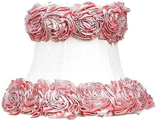 Jubilee Collection 2622 Ring of Roses Chandelier Shade, White
