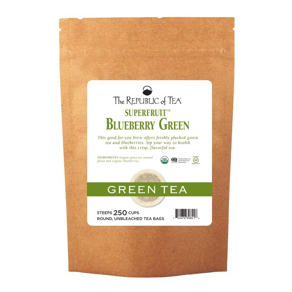 The Republic Of Tea Organic Blueberry Green Superfruit Tea, 250 Tea Bag Bulk by The Republic of Tea