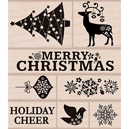 Hero Arts Rubber Stamps, Fancy Christmas (Christmas Stamps)
