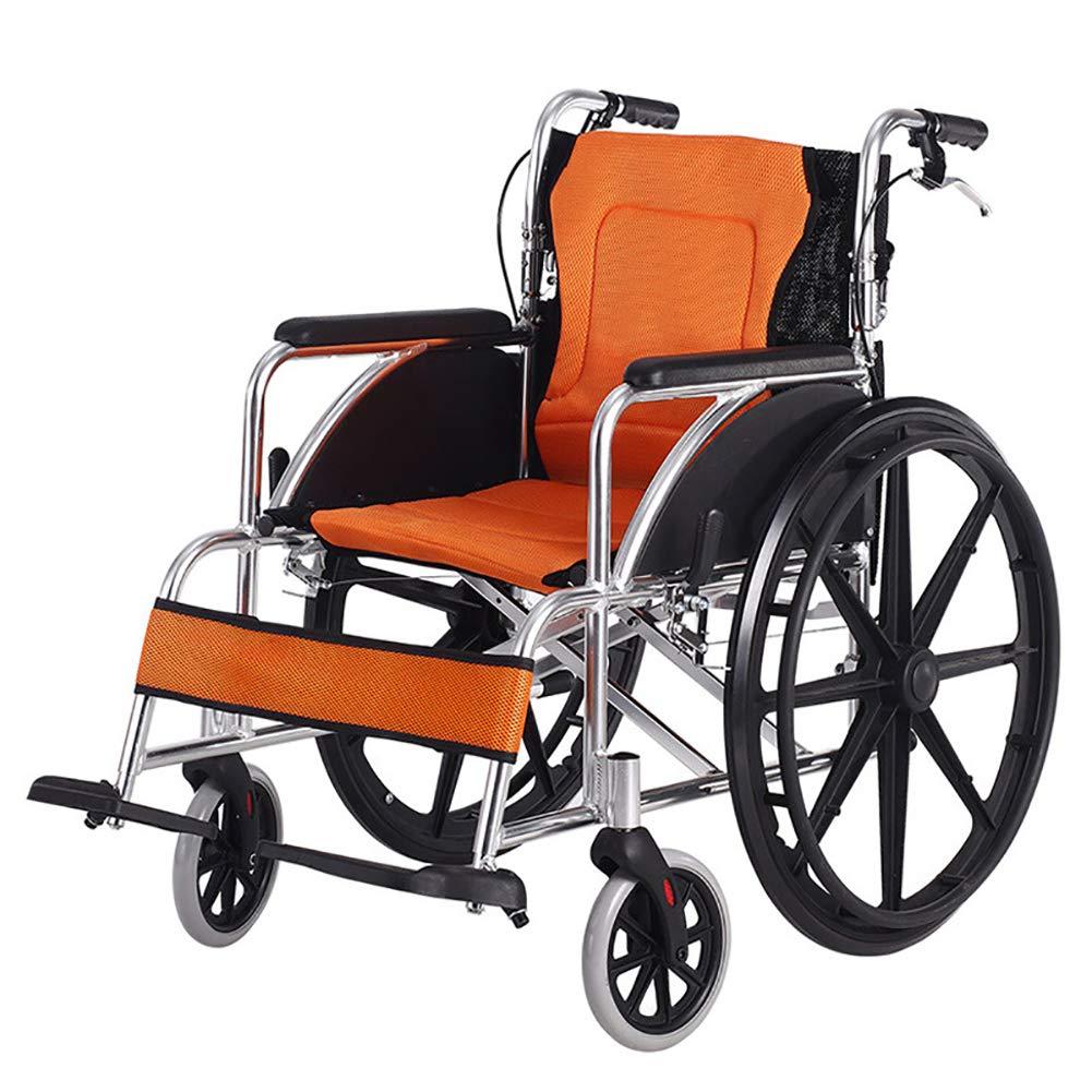 結婚祝い 自走用車いすハンドブレーキ、調節可能なペダルが付いている軽量の輸送の大人の折る車椅子 B07P9W62FS B07P9W62FS, Otias オリジナルバッググッズ:375b6438 --- a0267596.xsph.ru