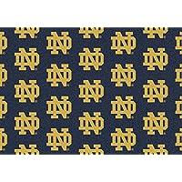 Notre Dame Fighting Irish NCAA College Repeating Team Area Rugs