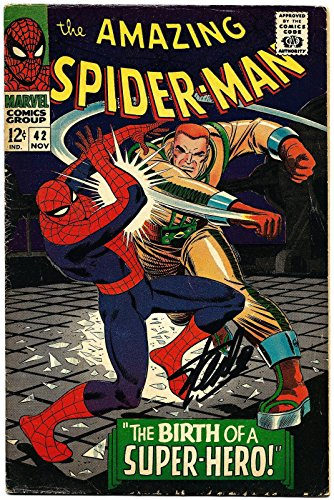 Stan Lee Hand Signed Spiderman #42 Comic Book Psa/dna Graded Gem Mint