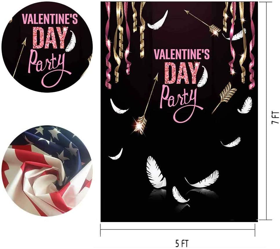 MTMETY 5x7ft Color Ribbon Background Romantic Valentines Day Theme Party Photography Photo Studio LXME952