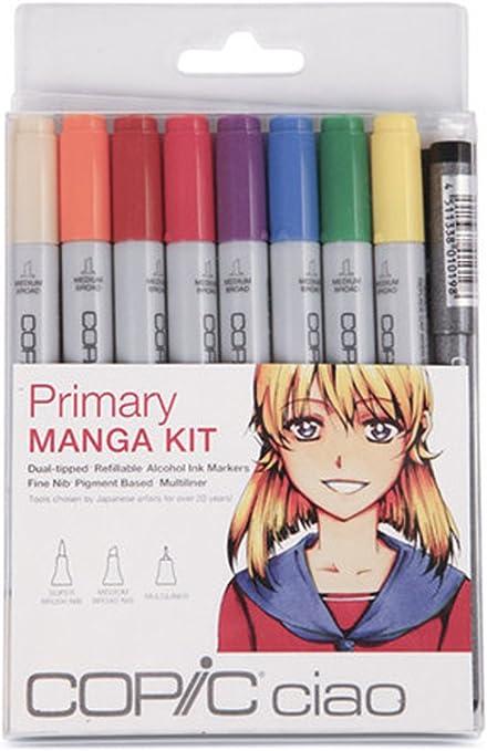 Rotuladores Copic Ciao Manga de 9 Piezas Set, Primaria: Amazon.es: Juguetes y juegos