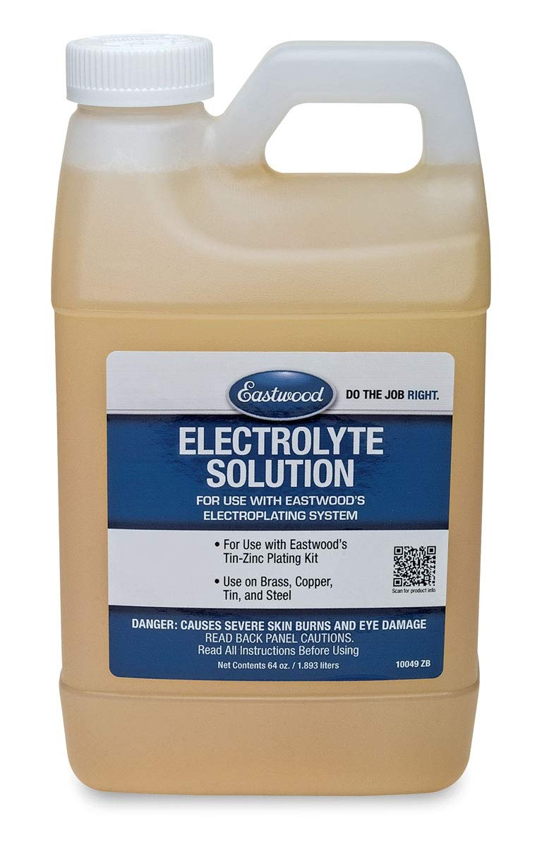 Eastwood Electroplating Replacement Electrolyte Solution Brass Copper Steel