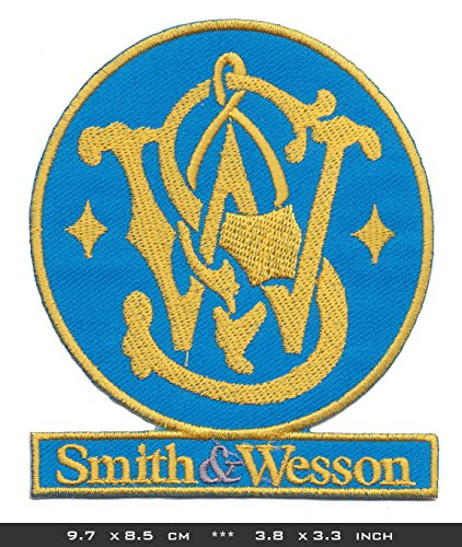 SMITH WESSON Iron Sew On Cotton Patches Firearms Guns Pistols Colts Magnum by RSPS Embroidery n Decals