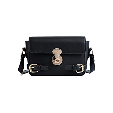 4d52226c8a Designer Handbag PU Leather Clutch Retro Black Crossbody Bag with Chain  Strap Cell Phone Purse