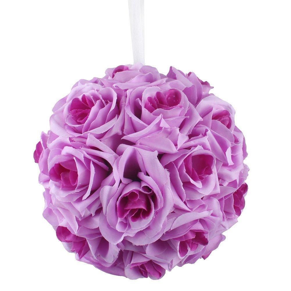 Amazon.com: AerWo Lavender & Lilac Rose Flower Ball Artificial ...
