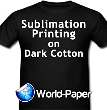 Sublimation Printing for Light Cotton Fabric 8.5 x 11-50 Sheets Yellow Line Heat Transfer Paper