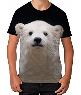 Kids Graphic T Shirt Boys Top Polar Bear Cub Youth Tee Shirt