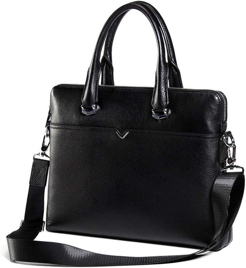 QARYYQ Mens Handbag Business Briefcase Cross Section Large Capacity Messenger Bag Mens Computer Bag 37x6x28cm Business Briefcase