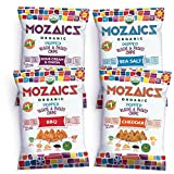Mozaics Organic Popped Veggie & Potato Chips- Healthy snack~100 calorie snack, better than veggie straws or stix - gluten free - 0.75oz single serve bags (Variety, 12-count)