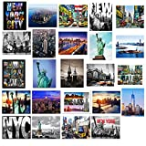 24 Various Collectible New York City Landmark Photos Decorative NY Pictures NYC Souvenir Wall Poster Prints - 8