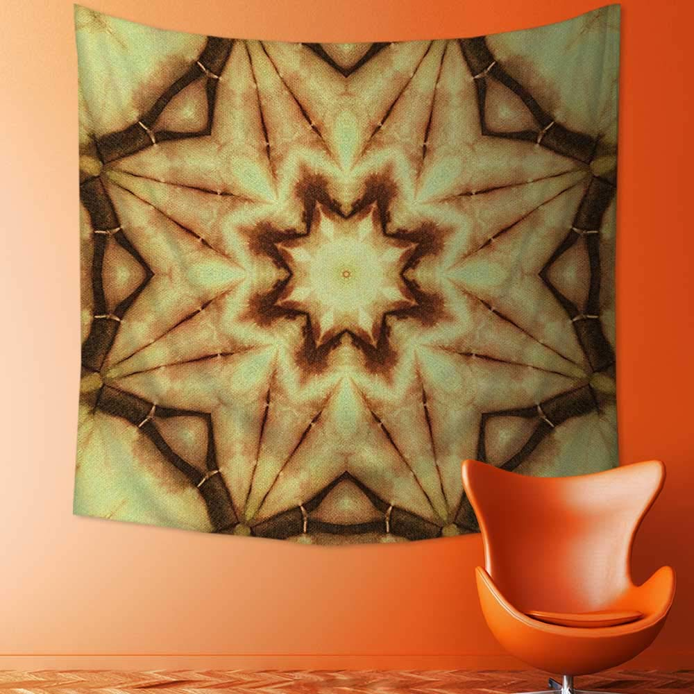 Printsonne Tapestry Wall Tapestry Decor Trippy Ethnic Thai Mandala Motif with Dirty Grunge Smear and Rough Stains Wall Hanging Yoga/Picnic/Camping Mat