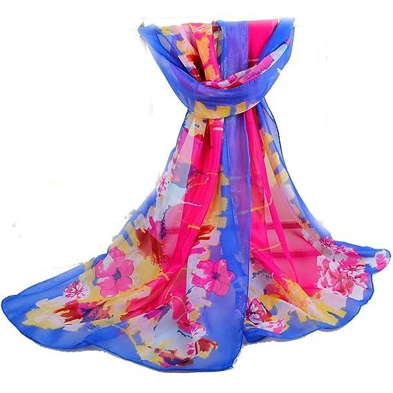 f7f13cfcc5fe8 Happy Star® - Echarpe - Femme - Bleu - Large  Amazon.fr  Vêtements et  accessoires