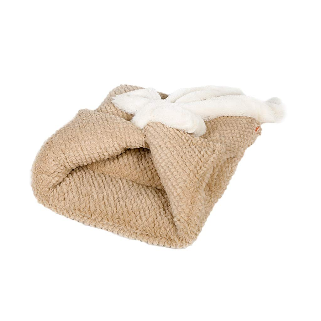 LIZHIQIANG Cat Nest Cat Sleeping Bag, Semi-Closed Washable Pet Bed, Keep Warm Four Seasons Universal Pet Waterloo