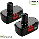 Munikind 19.2 Volt Replacement Battery for Craftsman DieHard C3 315.115410 315.11485 130279005 1323903 120235021 11375 11376 Cordless Drills (2-Packs)