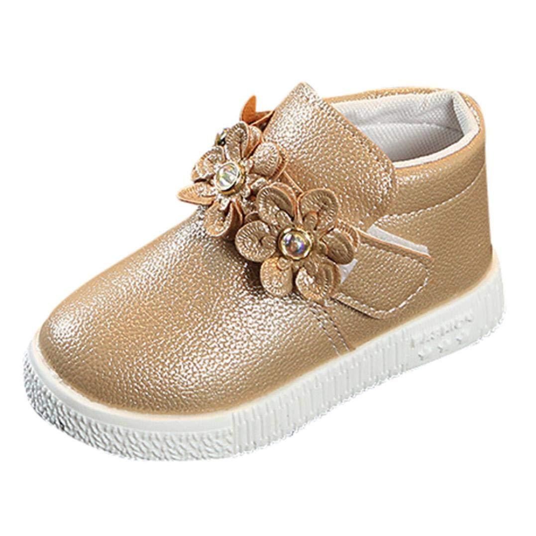 Vovotrade Mädchen Stiefel für Kinder Martin Stiefel Blume Britischer Stil Warme Mädchen Floral Martin Sneaker Stiefel Kinder Baby Freizeitschuhe