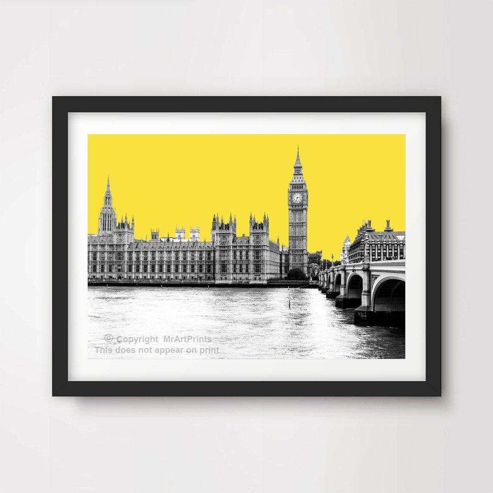 London Big Ben Poster London City Landmark Illustration Wall Art Print A3 A4