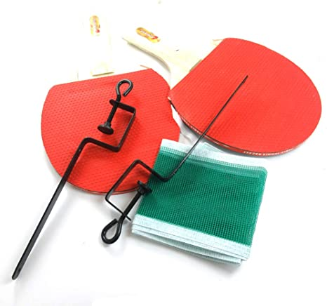 Hipiwe Retractable Table Tennis Net Replacement Ping Pong Net and Post with P...