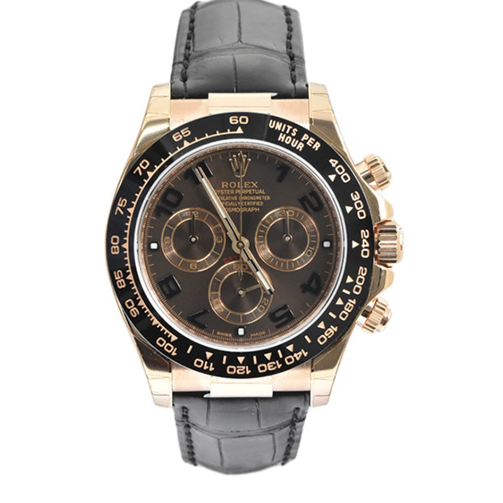 Amazon.com Rolex Daytona Pink Gold Strap Watch, Bronze