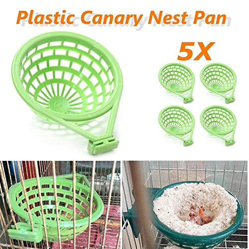5Pcs/Lot Large Palstic Canary Nest Cage Pan Liner For Nesting Canaries Finches Budgies Pet Birds Hatching Tools Supplies