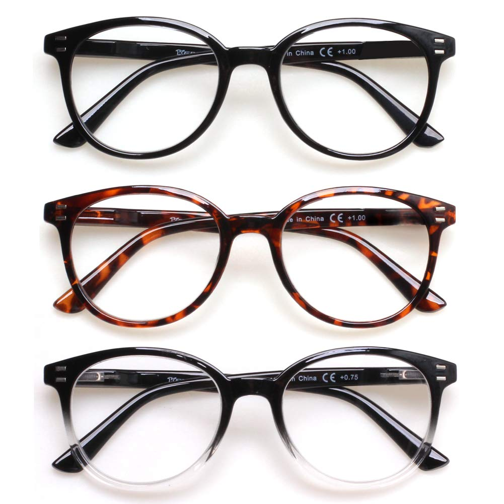 EYEGUARD Reading Glasses 4 Pair Quality Spring Hinge Stylish Readers Fashion Women Glasses for Readers