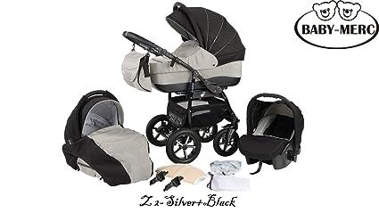 Carrito de bebé Baby Merc 3 en 1 color rojo/negro/blanco