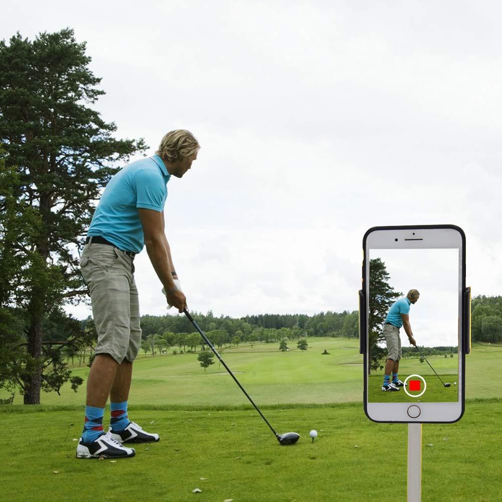 XLHVTERLI Golf Phone Holder Clip Golf Swing Recording Training Aids,Record Golf Swing/Short Game/Putting,Golf Accessories,Universal Smartphone Holder for The Golf Trolley,car Holder, (Black) (Black) by XLHVTERLI